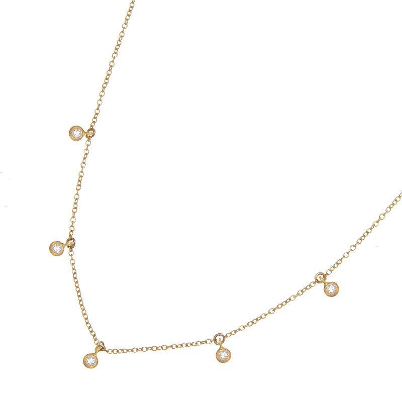 Devon Fashion Yellow Gold Cleopatra Diamond Necklace