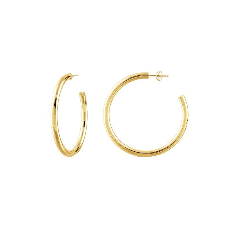 Devon Fashion Yellow Gold 50mm Hoop Earrings