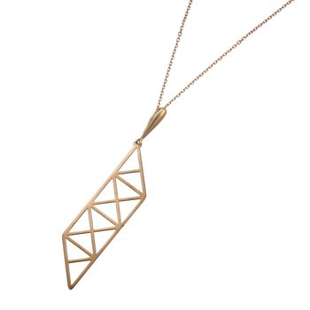 Rose Gold Geometric Design Pendant
