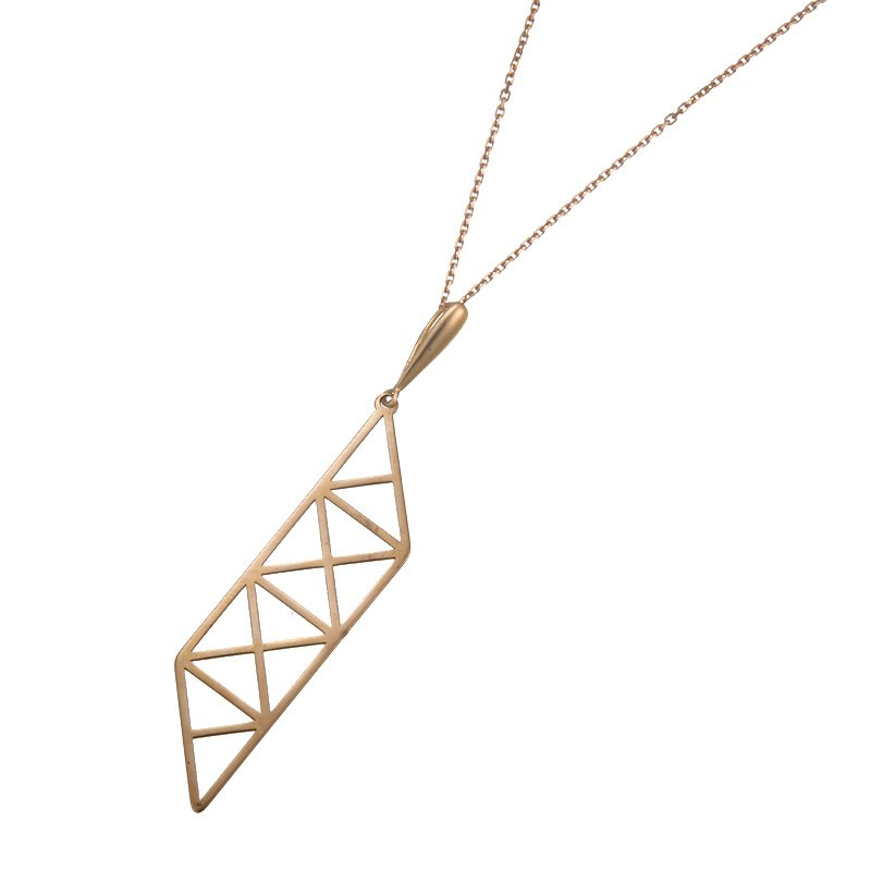 Devon Fashion Rose Gold Geometric Design Pendant