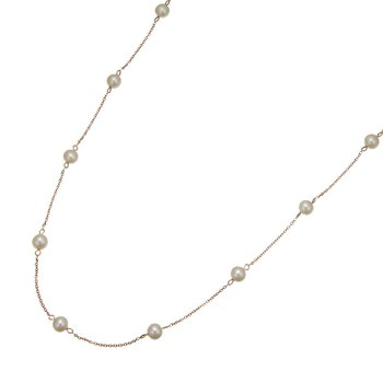 Rose Gold Tin Cup Pearl Necklace