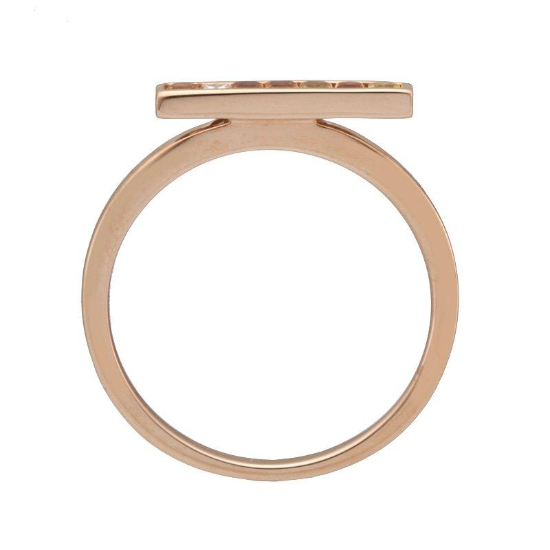 Devon Fashion Rose Gold Sapphire and Diamond Bar Ring