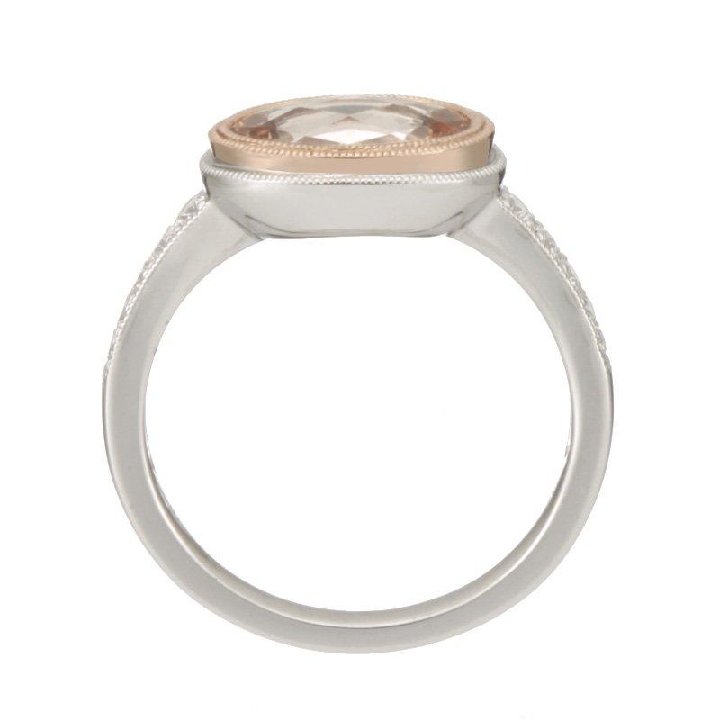 Stanton Color Two Tone Morganite and Diamond Ring