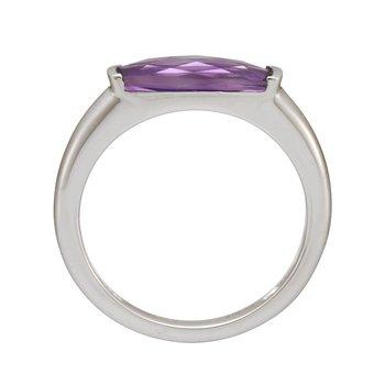 White Gold Amethyst Ring