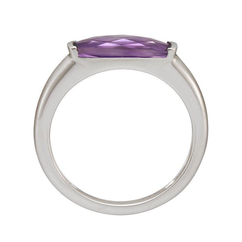 Stanton Color White Gold Amethyst Ring