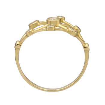 Yellow Gold Galaxy Diamond Ring