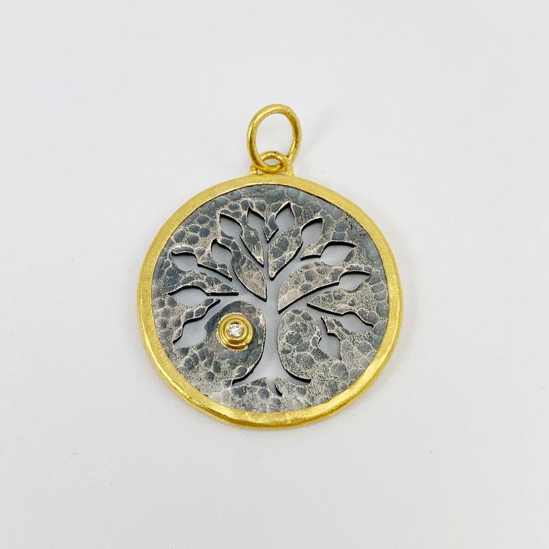 Prehistoric Works Tree of Life Pendant with Diamond