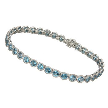 White Gold Blue Topaz Bracelet
