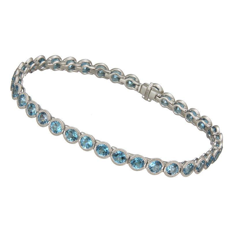 Stanton Color White Gold Blue Topaz Bracelet