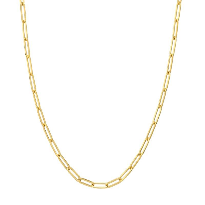 Devon Fashion Yellow Gold Paperclip Necklace