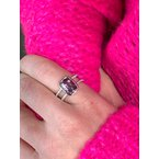 Devon Original White Gold Spinel and Diamond Ring