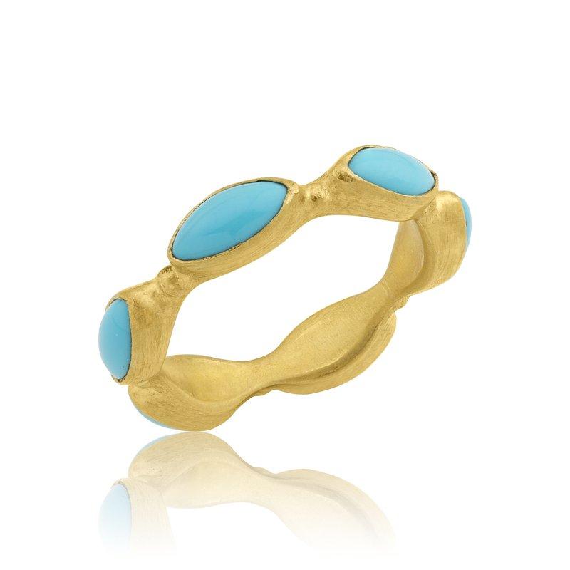 Lika Behar Collection 22K Gold Sleeping Beauty Band