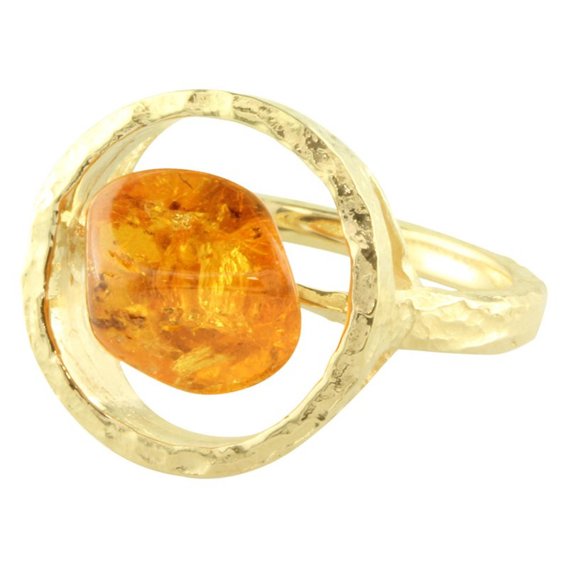 Sharing The Rough Jewelry Collection by Parle Sharing The Rough Yellow Gold Mandarin Garnet Ring