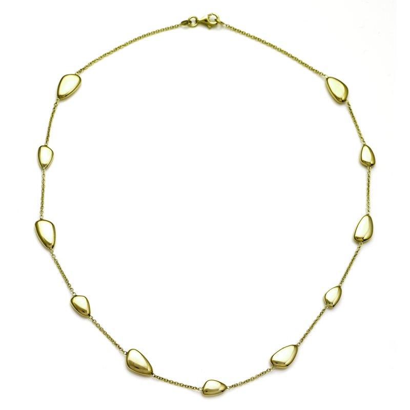 Rudolf Friedmann Yellow Gold Organic Bean Shape Necklace