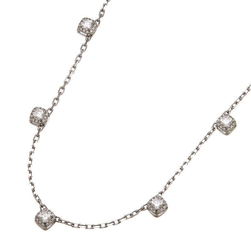 Devon Fashion White Gold Diamond by the Yard Necklace