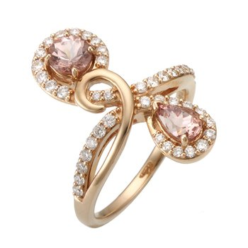 Sharing The Rough Rose Gold Infinity Ring with Lotus Garnet and Diamonds
