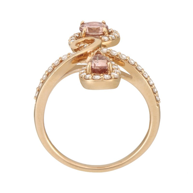 Sharing The Rough Jewelry Collection by Parle Sharing The Rough Rose Gold Infinity Ring with Lotus Garnet and Diamonds