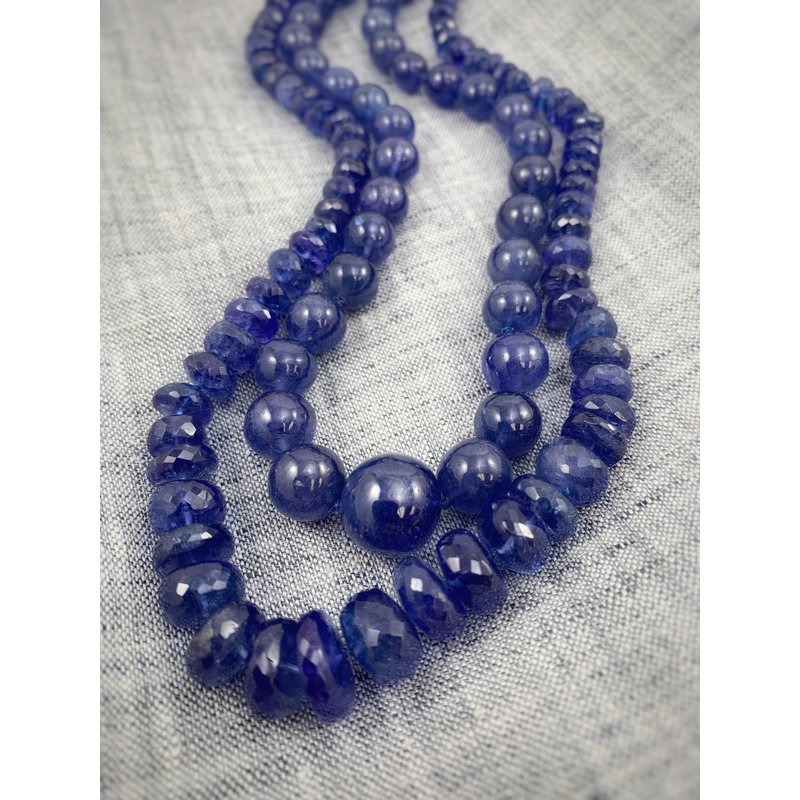 Devon Fashion Graduated Tanzanite Beads