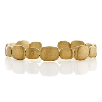 Yellow Gold Bead Cuff Bracelet