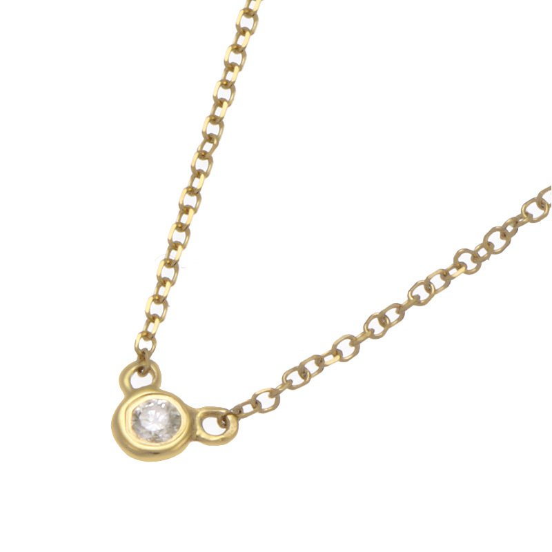 Devon Fashion Yellow Gold Bezel Set Diamond Necklace