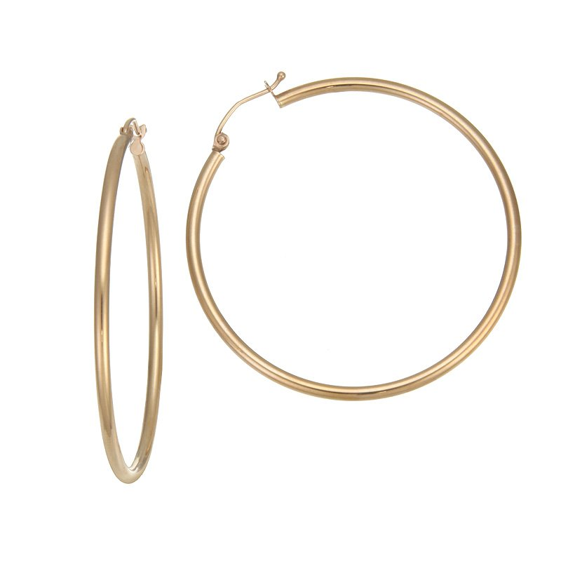 Devon Fashion Rose Gold Large Hoop Earrings