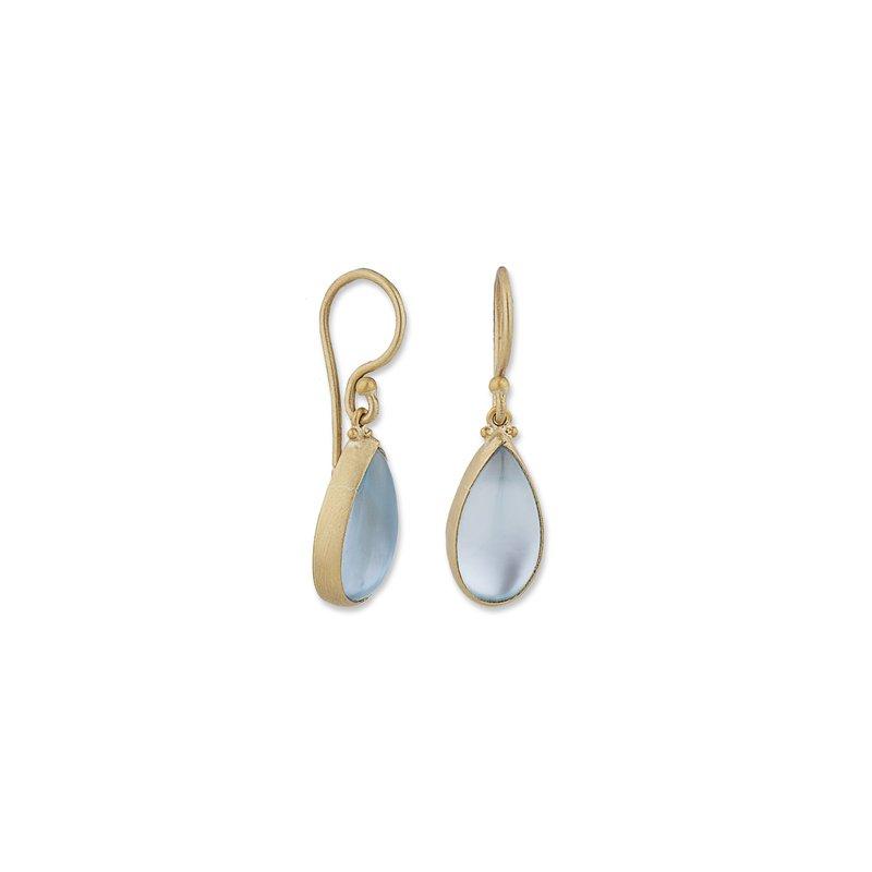 Lika Behar Collection Yellow Gold Blue Topaz Doublet Earrings
