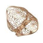 Devon Fashion Rose Gold Floral Cut Out Ring