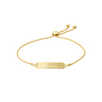 Yellow Gold ID Bolo Bracelet