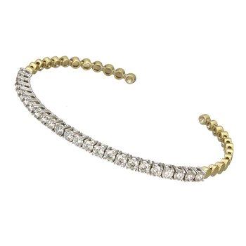 Two Tone Diamond Cuff Bracelet