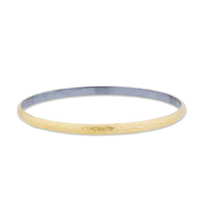 Lika Behar Collection 24K Gold and Oxidized Sterling Silver Fusion 4mm Bangle