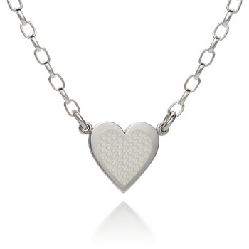 Sterling Silver Hearts of Love Enamel Necklace