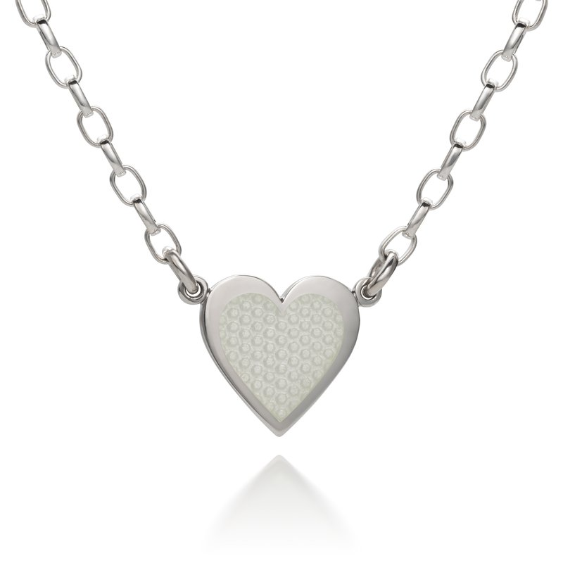 Colby Davis  Sterling Silver Hearts of Love Enamel Necklace