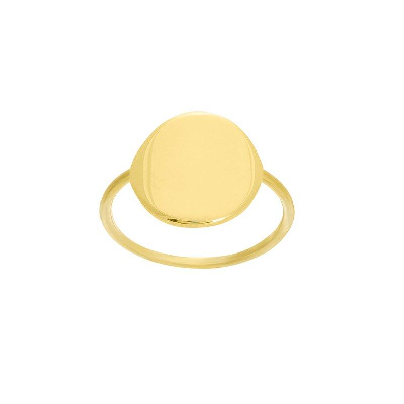 Devon Fashion Yellow Gold Disc Ring