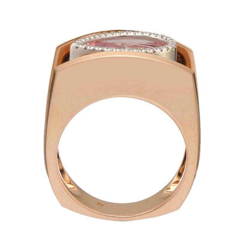 Devon Original Rose Gold Morganite and Diamond Ring