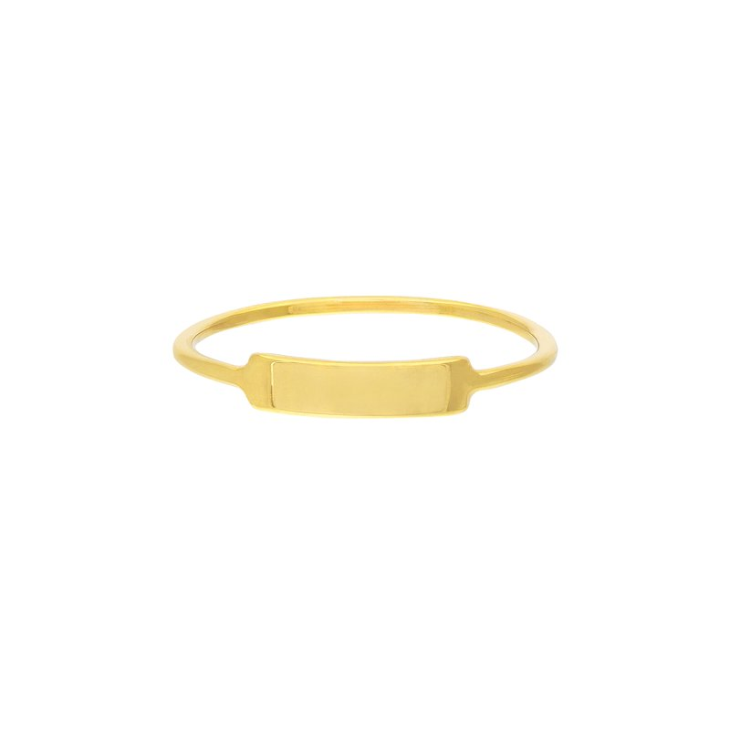 Devon Fashion Yellow Gold ID Ring