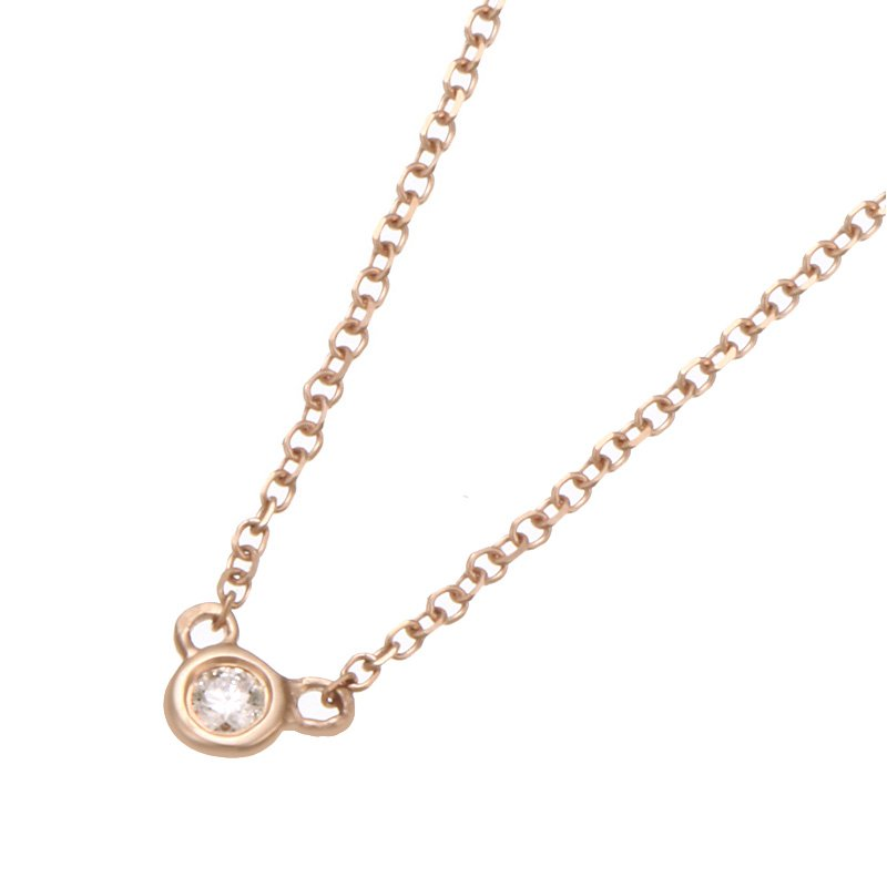 Devon Fashion Rose Gold Bezel Set Diamond Necklace