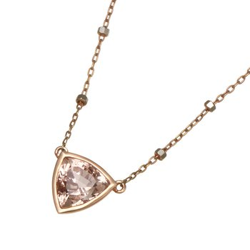 Rose Gold Morganite Necklace