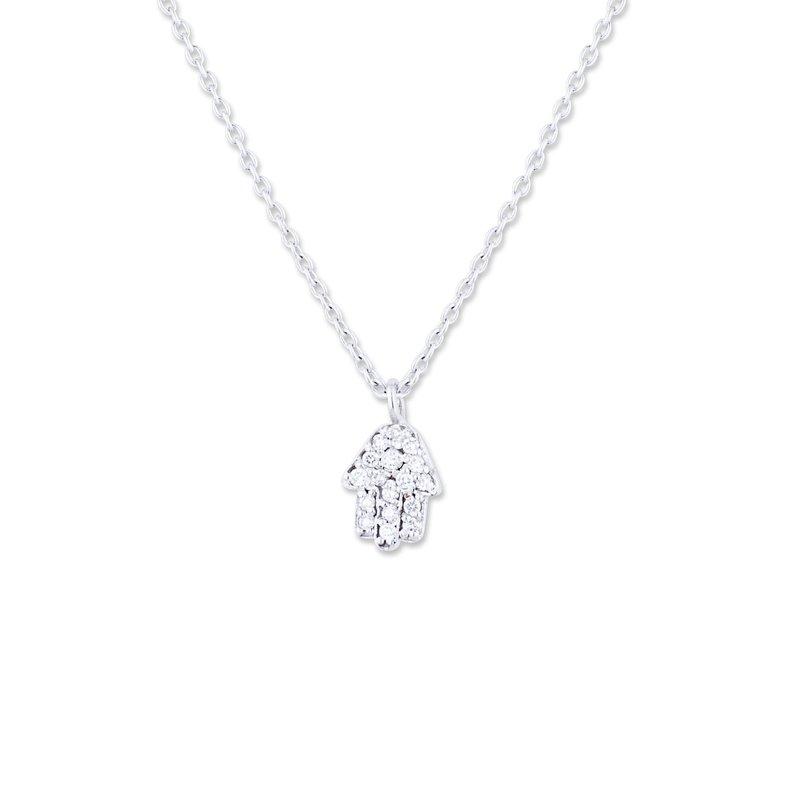 Lika Behar Collection 18K White Gold Diamond Hamsa Pendant