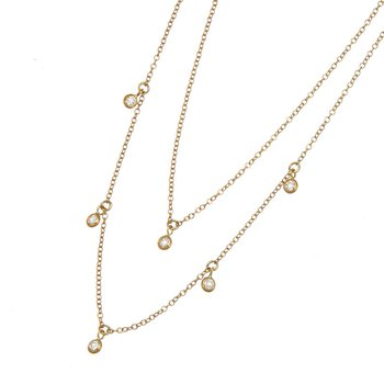 Yellow Gold Diamond Cleopatra Necklace
