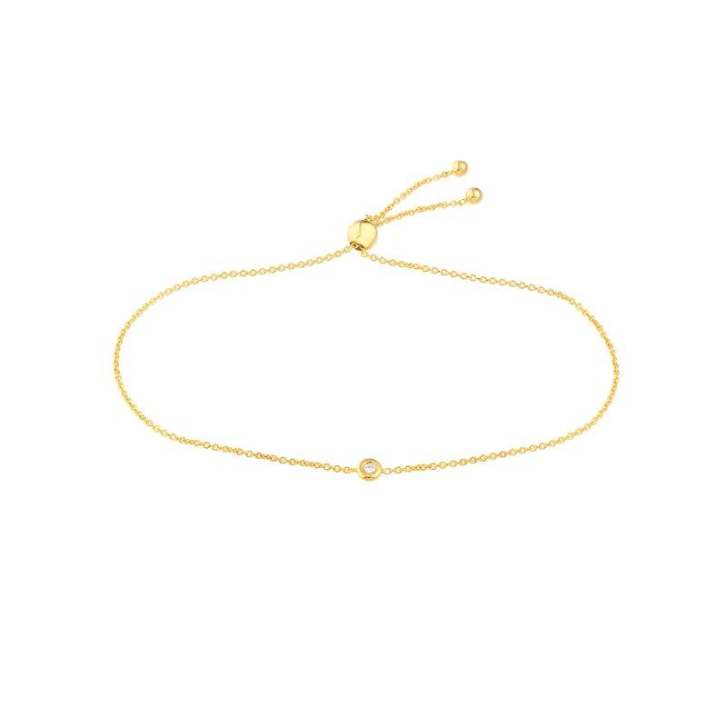 Devon Fashion Yellow Gold Diamond Bolo Bracelet