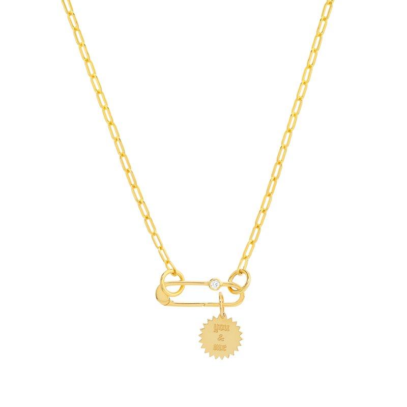 Devon Fashion Yellow Gold Split Chain with Oval Push Lock