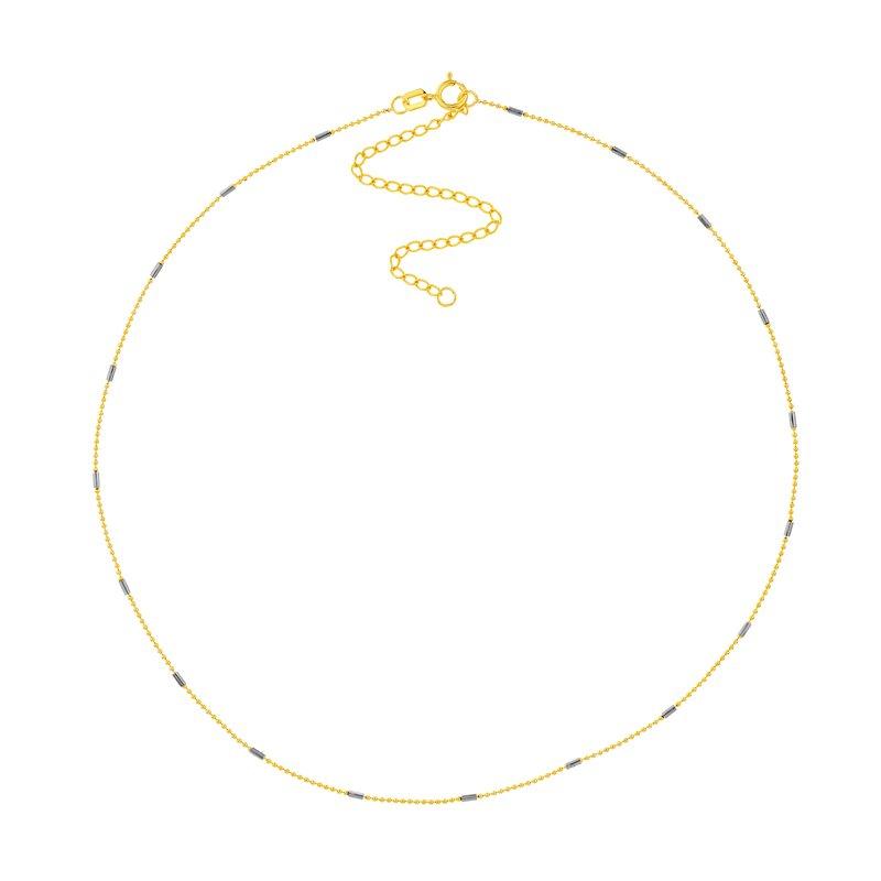Devon Fashion Yellow Gold Turquoise Enamel Choker Necklace