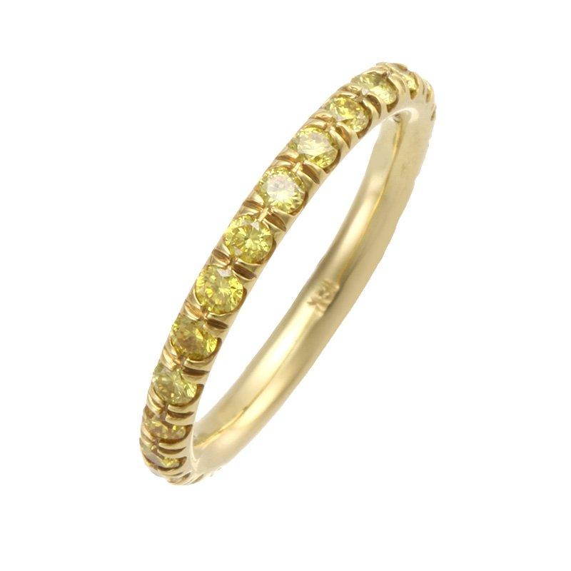 Devon Fashion Yellow Gold Fancy Intense Yellow Diamond Eternity Band