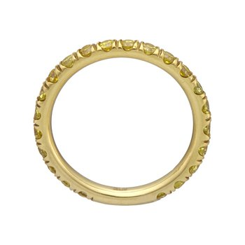 Yellow Gold Fancy Intense Yellow Diamond Eternity Band