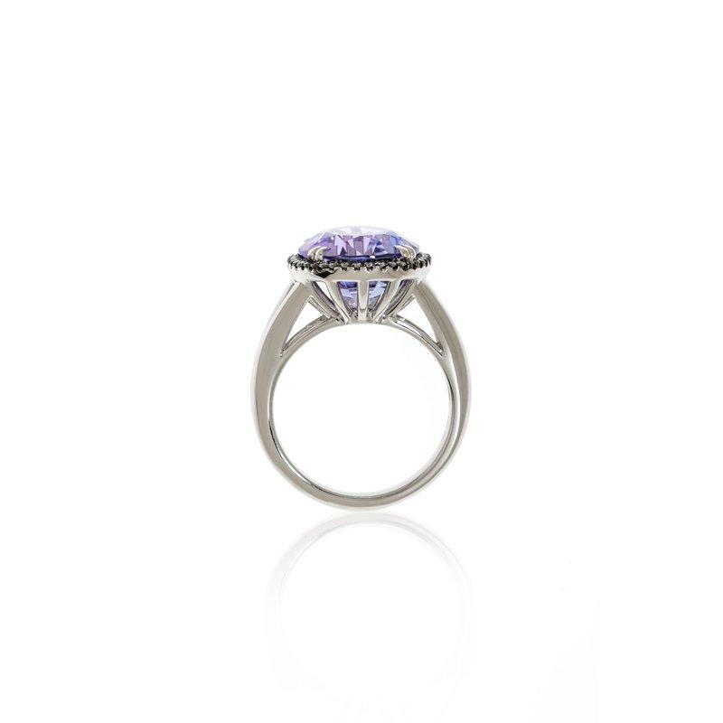 Devon Original White Gold Tanzanite and Diamond Ring