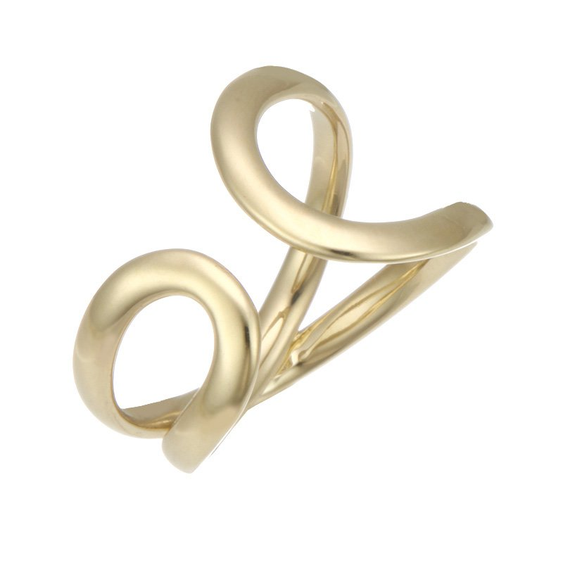 Devon Fashion Yellow Gold Loop Ring