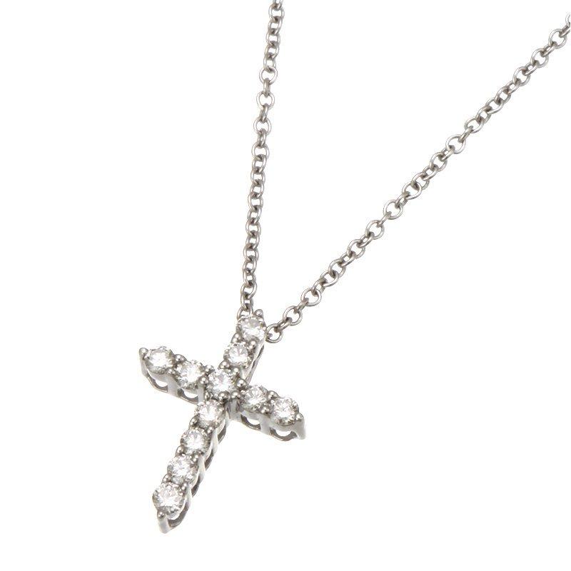 Devon Fashion White Gold Diamond Cross Pendant with Chain