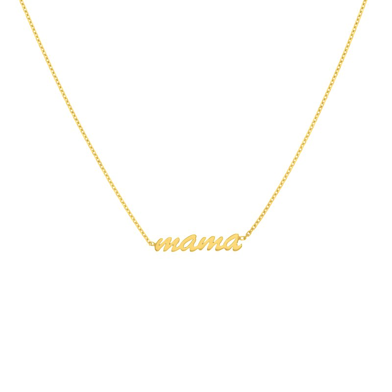 Devon Fashion Yellow Gold Mama Necklace
