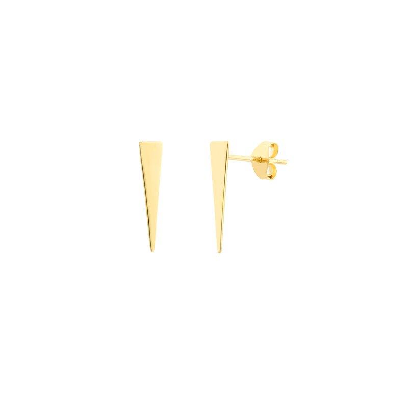 Devon Fashion Yellow Gold Jagger Stud Earrings