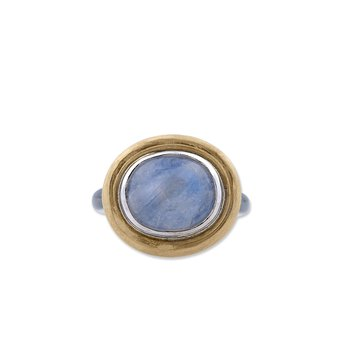 Two Tone Moonstone Ring